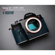 LE-HCSA7SNY [イタリアンミネルバ 本革カメラハーフケース ソニーA7/A7R/A7S ネイビー]