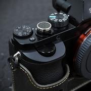 LS-SBLKK [本革デジタルカメラソフトボタン カーキ 貼付タイプ]