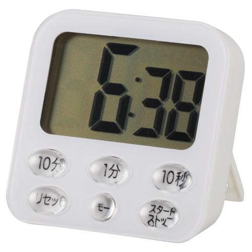COK-T140-W [時計付デジタルタイマー ホワイト 単四1本使用]