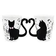 マグカップル 黒猫ピアノ [ペア]