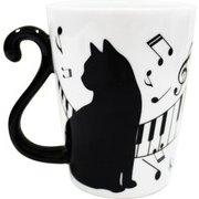 マグカップル 黒猫ピアノ 横 [単品]