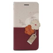 HM5129i6P [メモリーズオブパリ ダイアリー iPhone 6 Plus/6s Plus 5.5インチ用ケース ワインレッド]