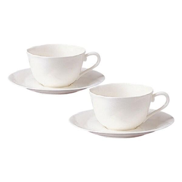 P59387A/9640 [アンサンブルホワイト ティー・コーヒー碗皿ペアセット]