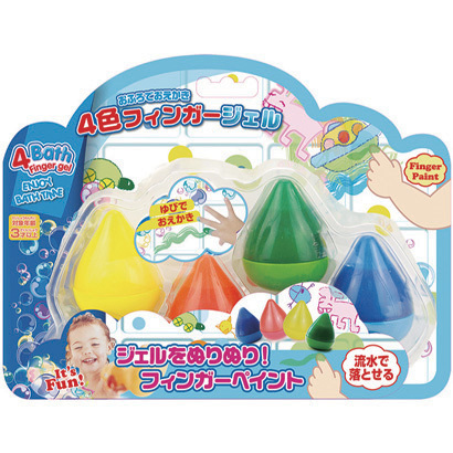 おふろでおえかき 4色フィンガージェル [対象年齢3歳~]