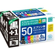 ECI-E506P+BK [IC6CL50+黒 互換リサイクルインクカートリッジ 6色パック]