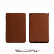 TUN-PD-100057 [TUNEWEAR LeatherLook SHELL with Front cover for iPad mini 第3/2/1世代 チョコレートブラウン]