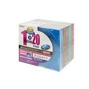 CD-088-20 [Blu-ray/DVD/CD用 プラケース 5色ミックス スリム20枚セット]