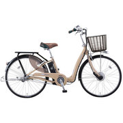 VLLC633M OY63K [電動アシスト自転車 Lilly Assist(リリーアシスト) パイプキャリヤバージョン 26型 内装3段変速 ライトカフェ/キャリアブラック]