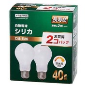 LW100V40WWL2P [白熱電球 長寿命シリカ電球 E26口金 100V 40W形 2P]