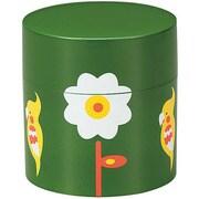 36556 [茶筒 小花とオカメインコ GR]