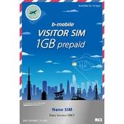 JCI b-mobile BM-VSFRMLC-1GBN [VISITOR SIM 1GB Prepaid (Nano) ] [bモバイル 1GB 有効期間14日 定額 ナノSIM]