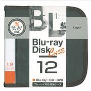 BD-080-12BK [Blu-ray/DVD/CD用 ディスクケース 12枚 ブラック]