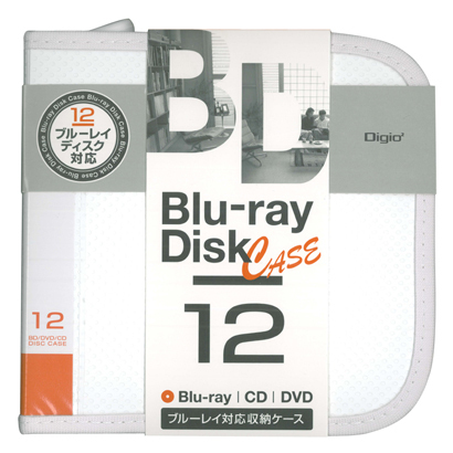BD-080-12W [Blu-ray/DVD/CD用 ディスクケース 12枚 ホワイト]