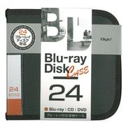 BD-080-24BK [Blu-ray/DVD/CD用 ディスクケース 24枚 ブラック]