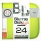 BD-080-24LY [Blu-ray/DVD/CD用 ディスクケース 24枚 ライムイエロー]