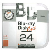 BD-080-24W [Blu-ray/DVD/CD用 ディスクケース 24枚 ホワイト]