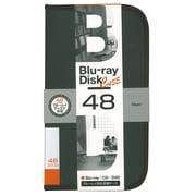 BD-080-48BK [Blu-ray/DVD/CD用 ディスクケース 48枚 ブラック]