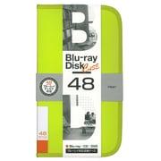 BD-080-48LY [Blu-ray/DVD/CD用 ディスクケース 48枚 ライムイエロー]