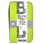 BD-080-72LY [Blu-ray/DVD/CD用 ディスクケース 72枚 ライムイエロー]