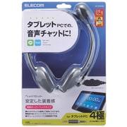 HS-HP22TBK [4極プラグ ヘッドセット 両耳小型オーバーヘッドタイプ]