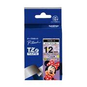 TZe-MV31 [ラベルライターピータッチ用 ラミネート ミニーマウス柄 バイオレットテープ 黒文字 幅12mm]