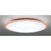 LEDH81704Y-LC [高演色LEDシーリングライト キレイ色-kireiro- ~8畳 調光・調色機能 電球色~昼光色 楽エコセンサー あとからリモコン(別売) クリアリング ロゼ]