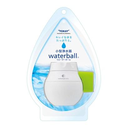 WB600B-G [小型浄水器 waterball(ウォーターボール) カートリッジタイプ 丸型蛇口(16mm)対応 泡沫水栓(外ネジ式・内ネジ式)対応 ホワイト/グリーン]