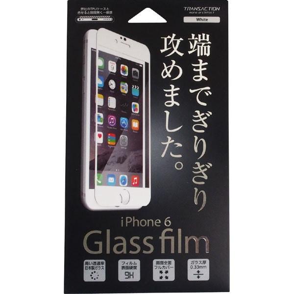 TD-2017-044 [iPhone 6/6s用 端まで攻めるガラスフィルム ホワイト]