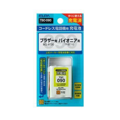 TSC-090 [電話機用充電池 3.6V 600mAh]
