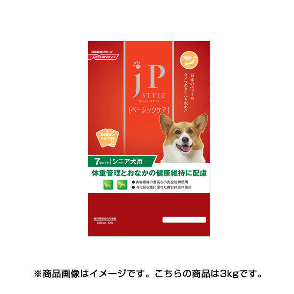 JPスタイル ベーシックケア 7歳以上のシニア犬用 3kg [ドッグフード]