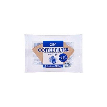コーヒーフィルター 無漂白タブ付 100P