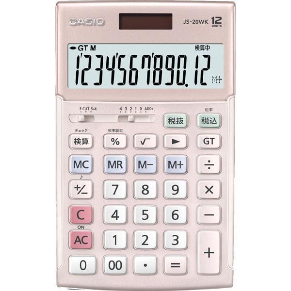 JS-20WK-PK [本格実務電卓 12桁 ピンク]