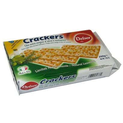 デルセール オリーブオイル&ローズマリークラッカー 200g [菓子 1袋]