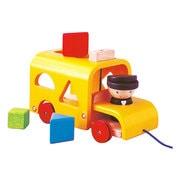 5121 [木製玩具 ソーティングスクールバス 18ヶ月~]