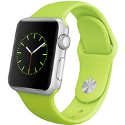 Apple Watch Sport 38mmシルバーアルミニウムケースとグリーンスポーツバンド