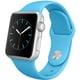 Apple Watch Sport 38mmシルバーアルミニウムケースとブルースポーツバンド