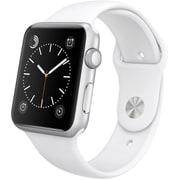 Apple Watch Sport 42mmシルバーアルミニウムケースとホワイトスポーツバンド