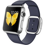 Apple Watch 38mmステンレススチールケースとミッドナイトブルーモダンバックル M