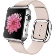 Apple Watch 38mmステンレススチールケースとソフトピンクモダンバックル S