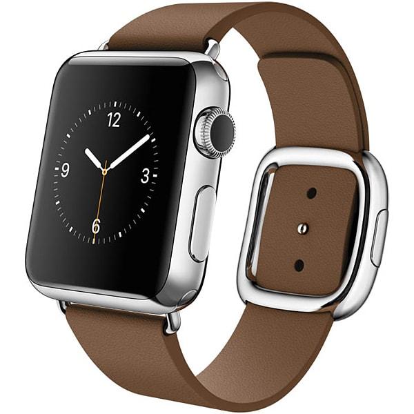 Apple Watch 38mmステンレススチールケースとブラウンモダンバックル S