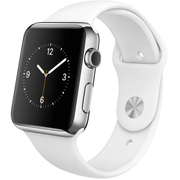 Apple Watch 42mmステンレスケースとホワイトスポーツバンド
