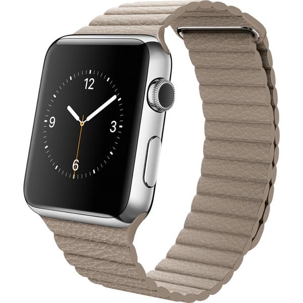 Apple Watch 42mmステンレスケースとストーンレザーループ M