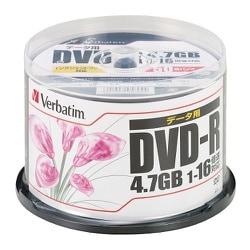 DHR47JPP50 [データ用DVD-R 1回記録用 4.7GB 1-16倍速 50枚 インクジェットプリンタ対応(ホワイト) ワイド印刷エリア対応]