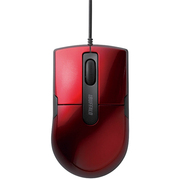 BSMBU26SMRD [静音スイッチ採用 有線BlueLEDマウス 3ボタン Mサイズ レッド]