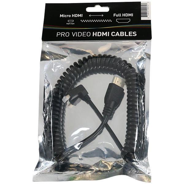 コイル ド マイクロ HDMI to フル HDMI ケーブル 50cm