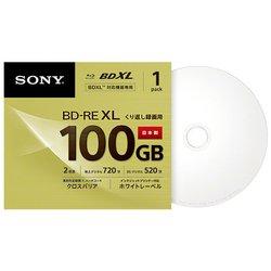 BNE3VCPJ2 [BD-RE ビデオ用ブルーレイディスク くり返し録画用 3層 100GB 2倍速 インクジェットプリンター対応 1枚パック]