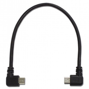 USB-139A [USBホストケーブル Micro-B - Micro-B 左右L型 16cm ブラック]