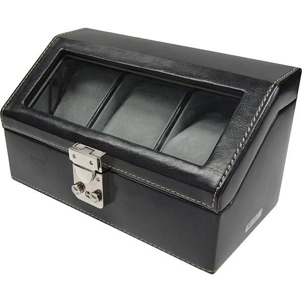 P8059 BK [ビックサイズ ウォッチコレクションケース 3 PVC 黒]
