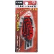 GIS 六角棒レンチ ホルダー付ミリ 8本組
