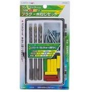 EARTH MAN コンクリートドリル&プラグ 3本組 プラグ・木ネジセット